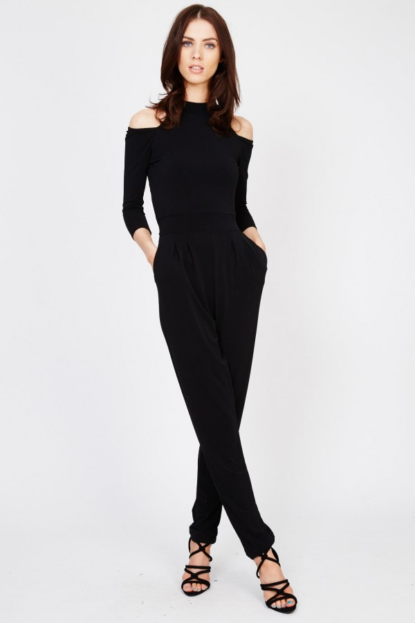 WalG Cut Out Black Jumpsuit
