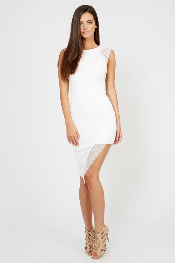 TFNC Limia White Midi Dress