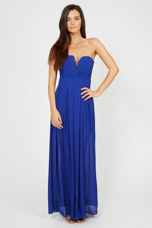 TFNC Nelle Blue Maxi Dress