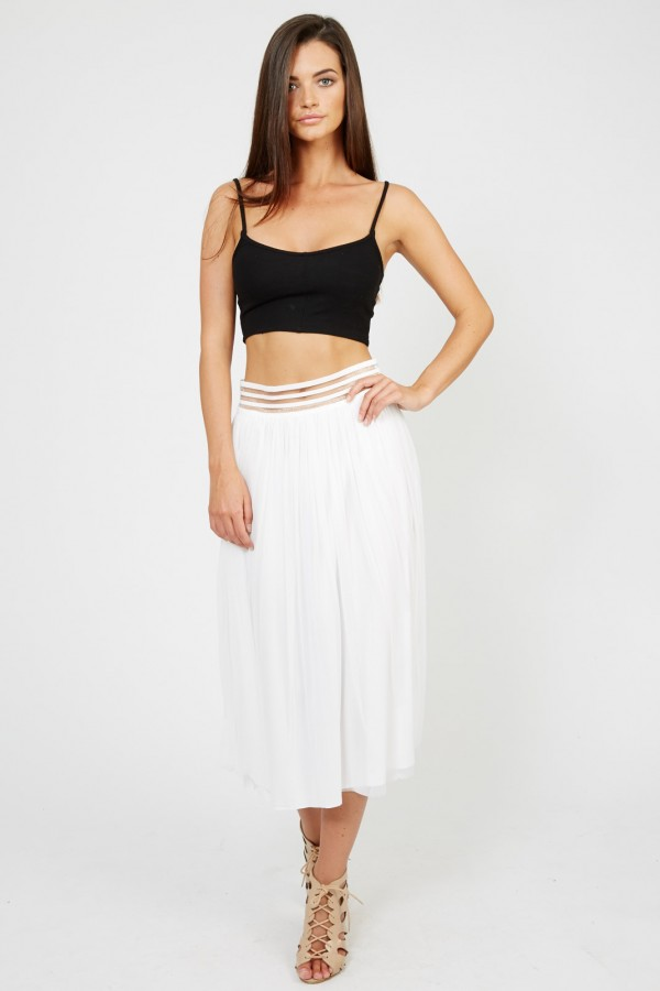 TFNC Sabila White Skirt