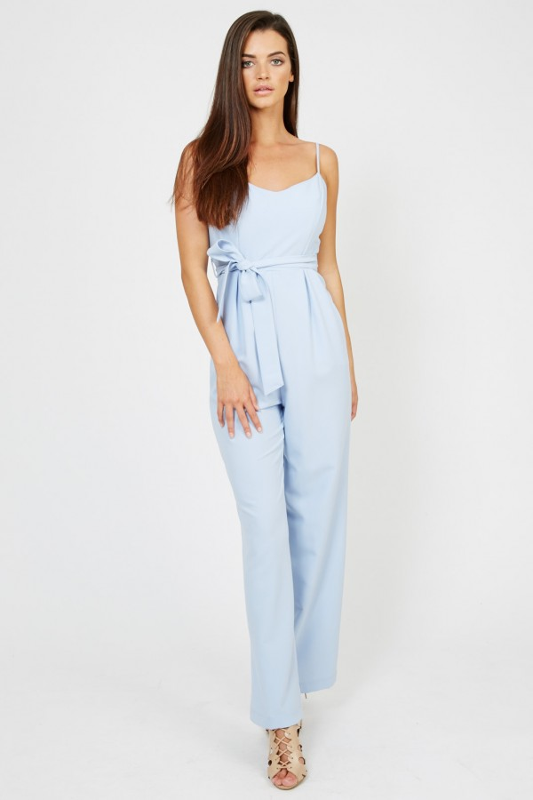 TFNC Suzi Powder Blue Jumpsuit
