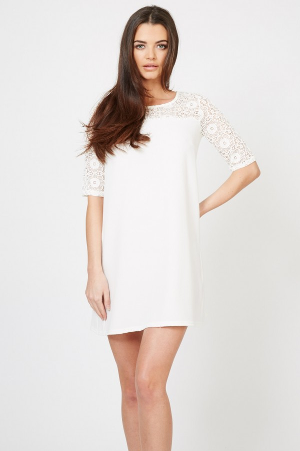 TFNC Guplyan White Dress