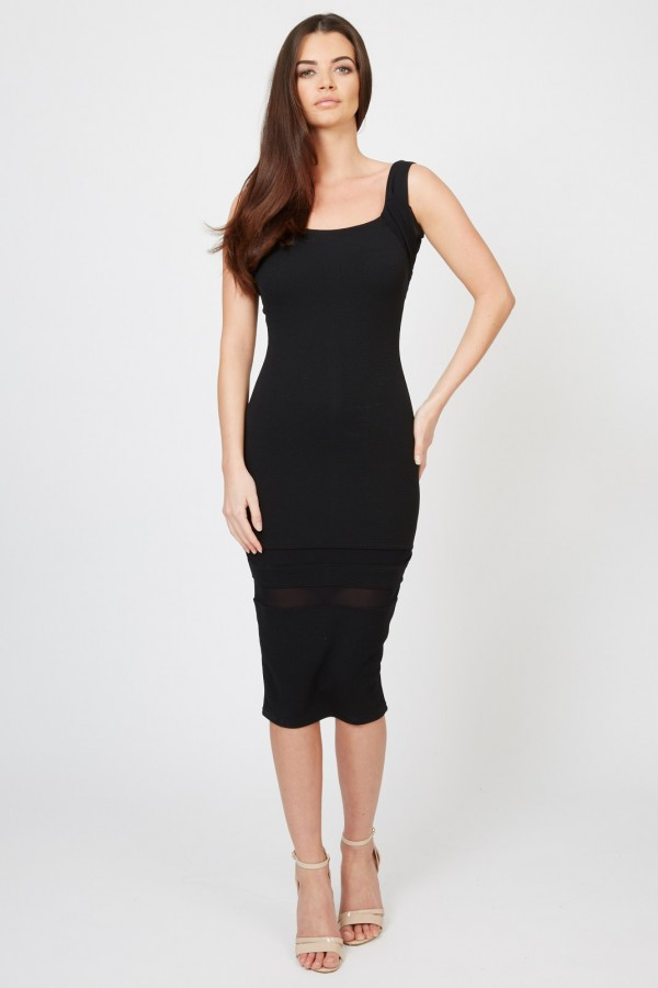 TFNC Twiny Black Midi Dress