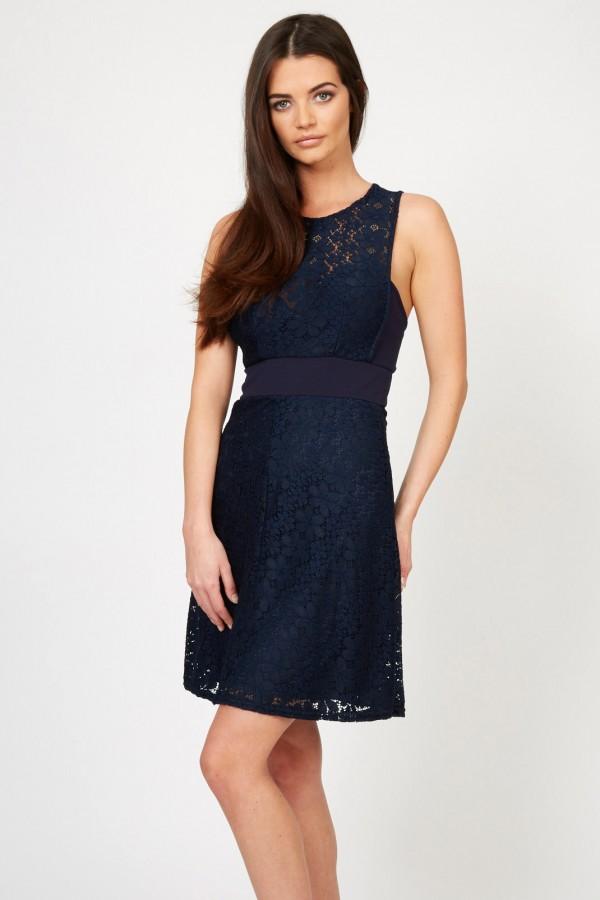 TFNC Ornella Navy Dress
