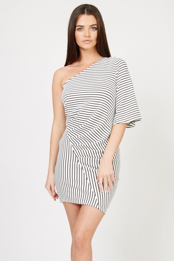 TFNC Milly Stripe Mini Dress