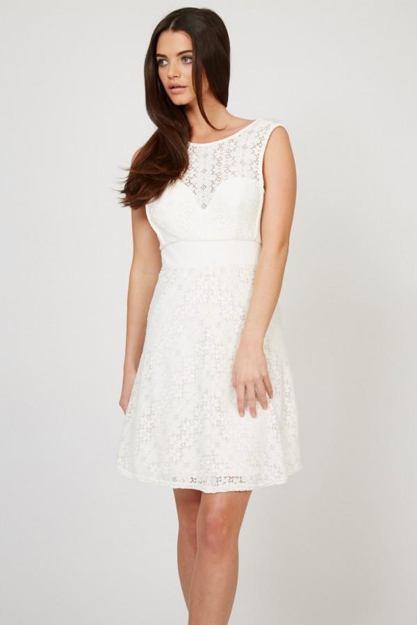 TFNC Ornella White Dress