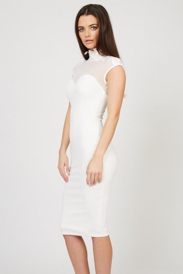 TFNC Stana White Midi Dress