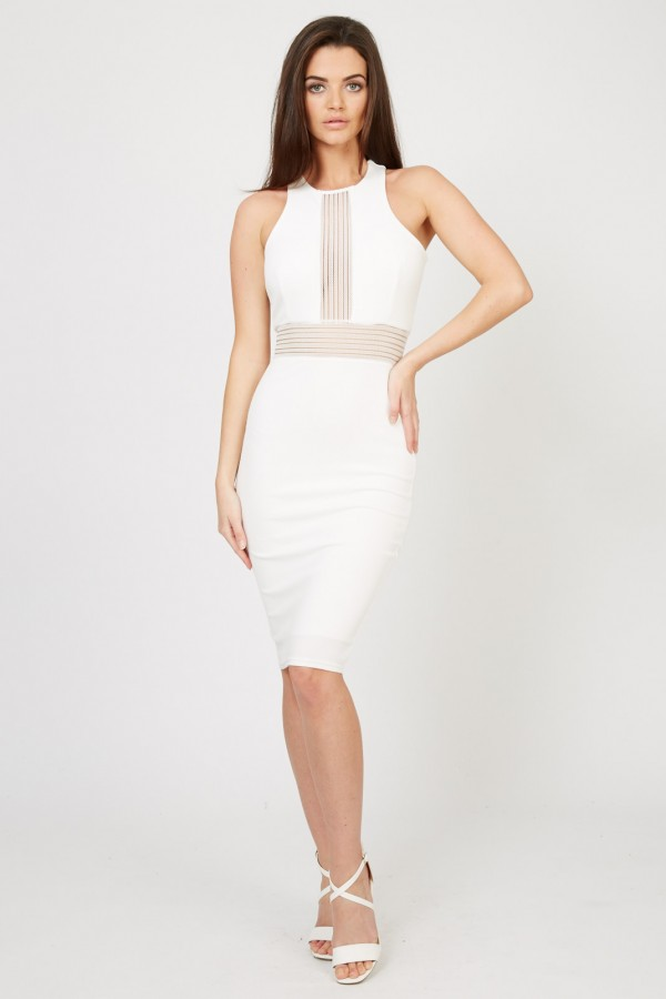 TFNC Jeda White Midi Dress