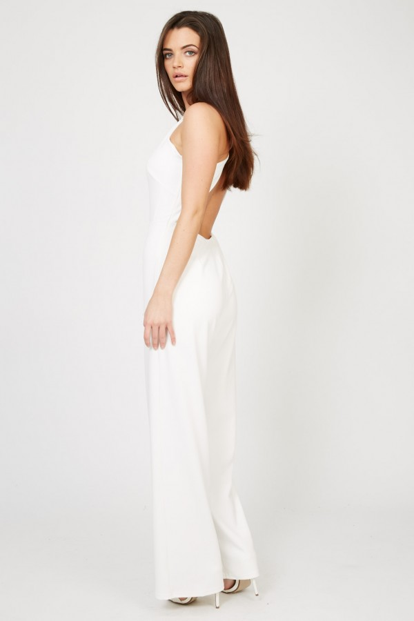 TFNC Nalia White Jumpsuit