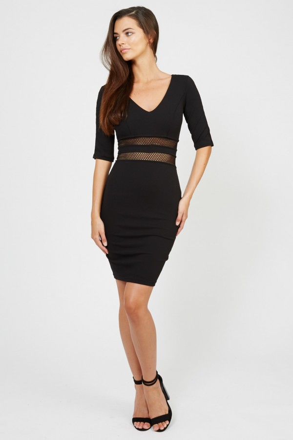 TFNC Oprah Black Midi Dress