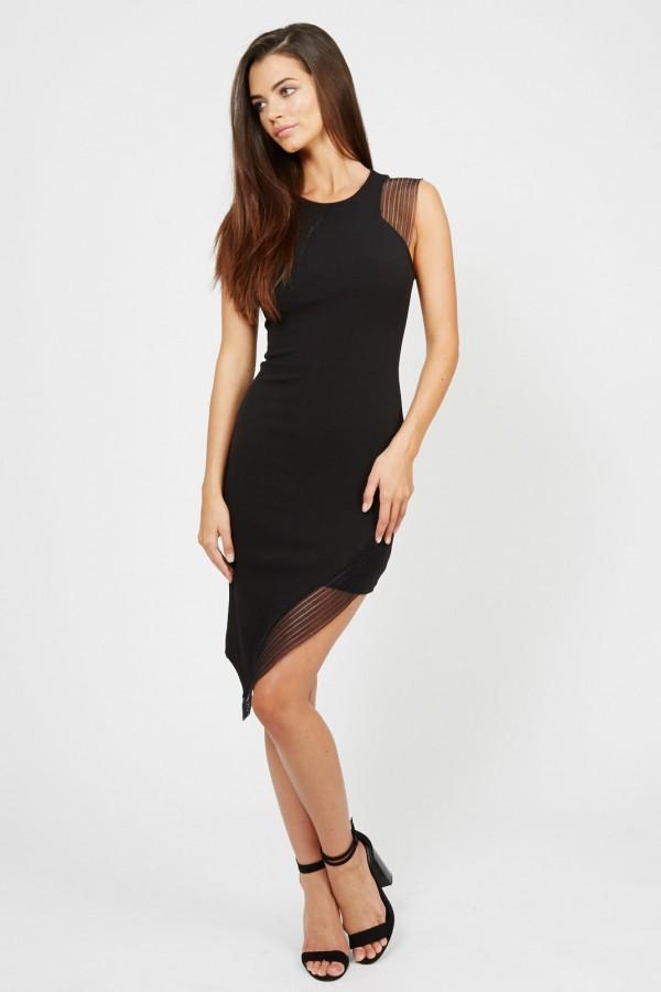 TFNC Limia Black Midi Dress