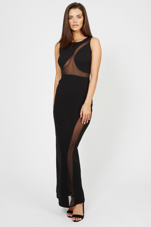 TFNC Shaneen Black Maxi Dress