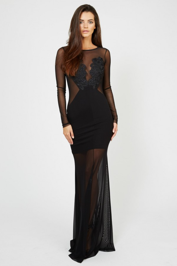 TFNC Petite Black Maxi Dress