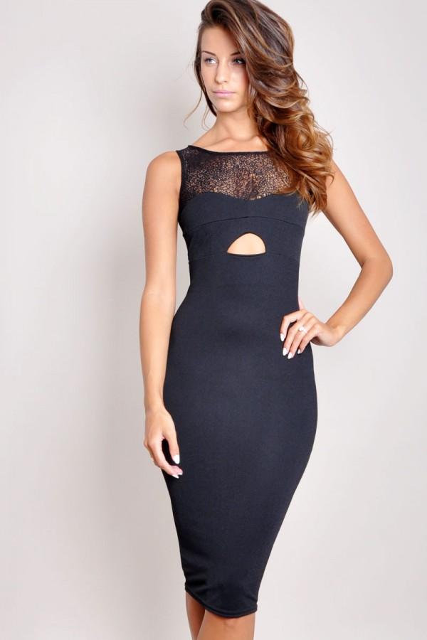 TFNC Solla Mesh Midi Dress