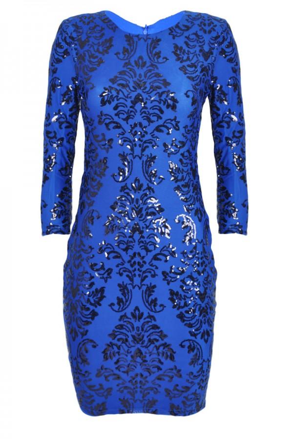 TFNC Calla Baroque Sequin Dress
