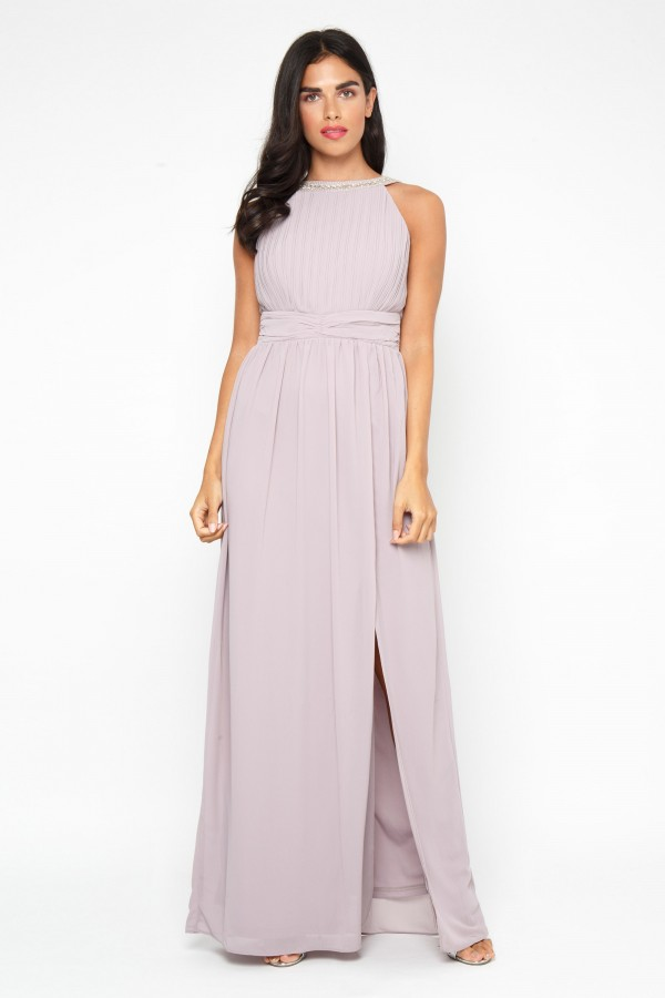 TFNC Martha Grey Maxi Dress