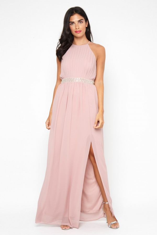 TFNC Maera Pale Mauve Maxi Dress