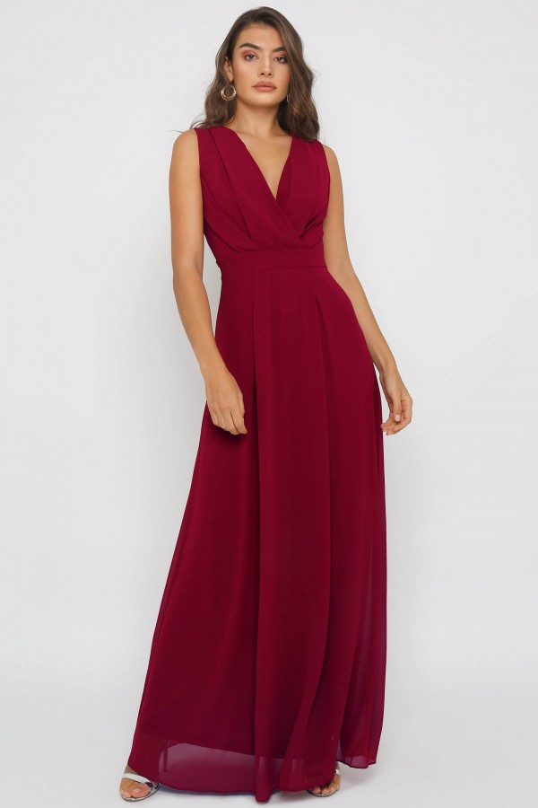 TFNC Neena Mulberry Maxi Dress