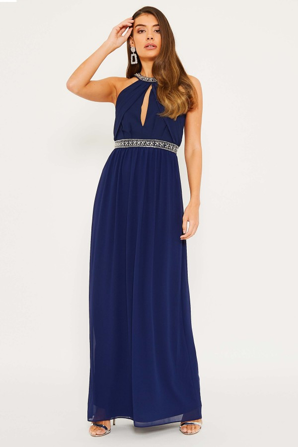 TFNC Juliet Navy Maxi Dress