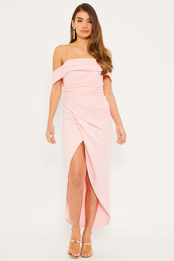 TFNC Grace Crystal Pink Midi Dress