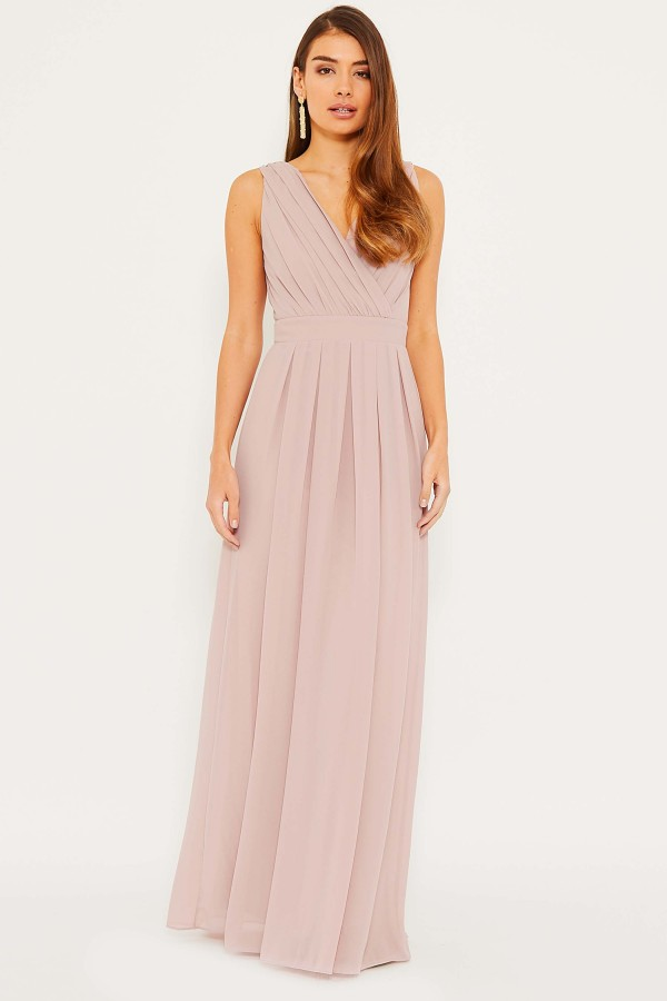 TFNC Kesha Pale Mauve Maxi Dress