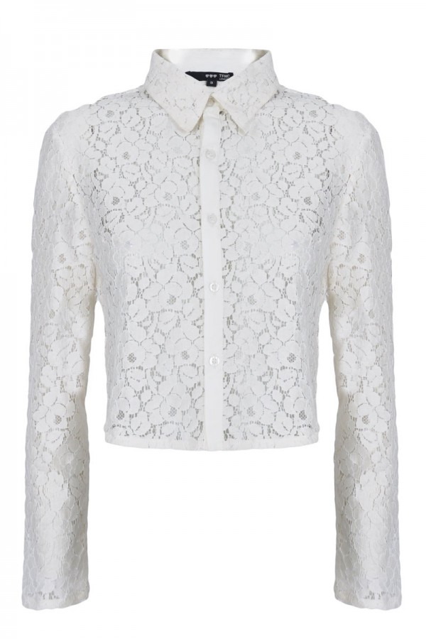 TFNC Toni Lace Cropped Blouse