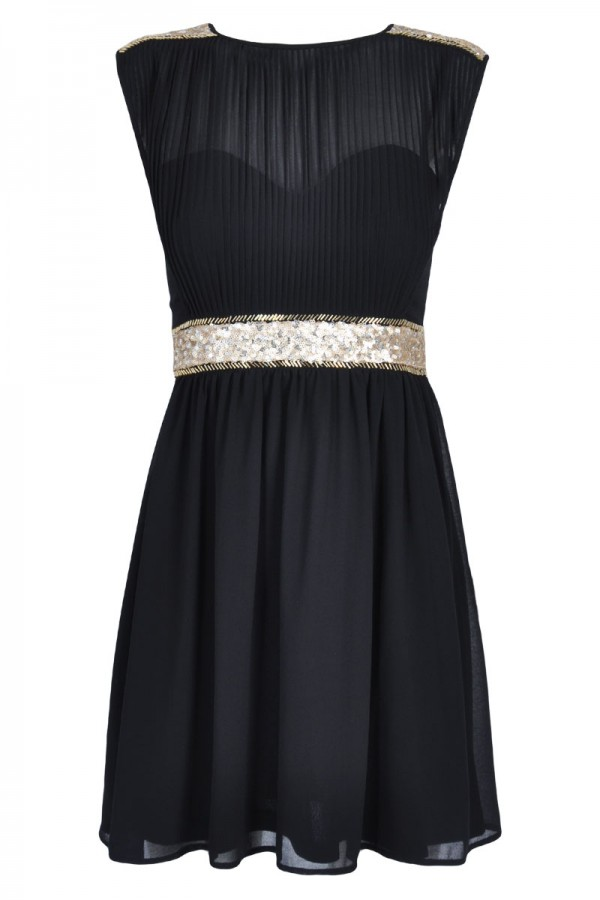 TFNC Kristen Sequin Fit and Flare Dress