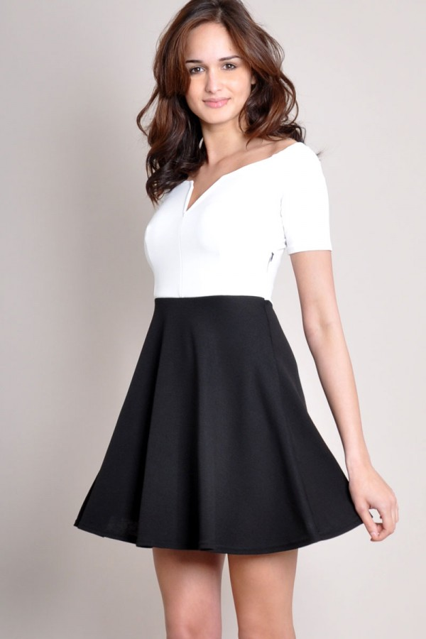 TFNC Nicoletta Monochrome Dress