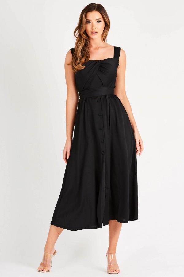 TFNC Thea Black Midi Dress