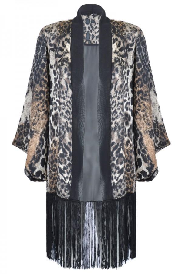 TFNC Kim Leopard Print Kimono