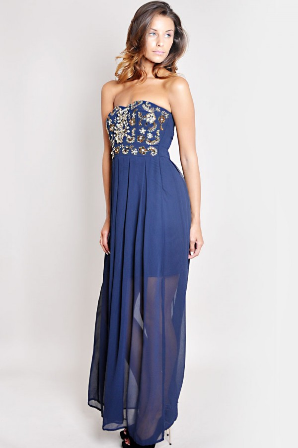 TFNC Amelia Embellished Maxi Dress