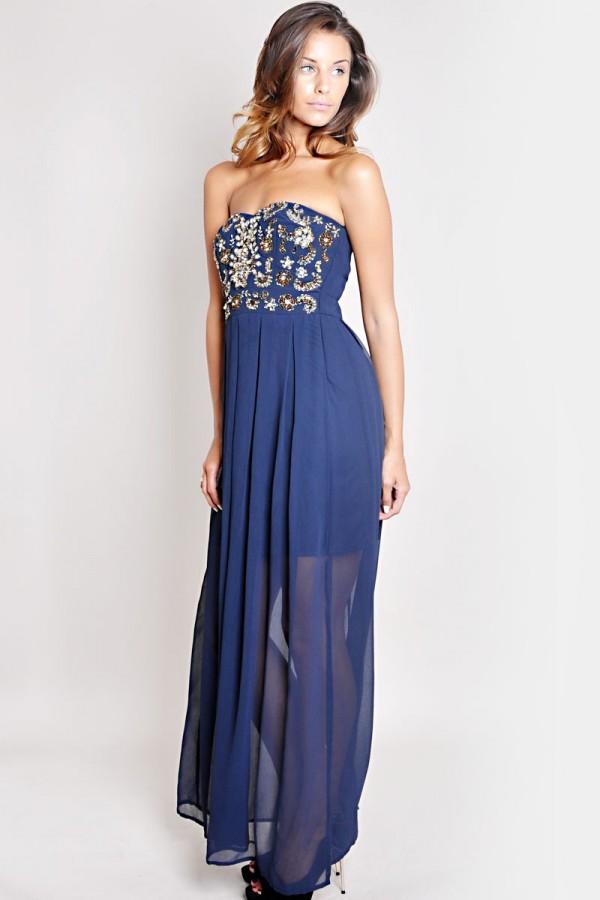 TFNC Amelia Embellished Maxi Dress