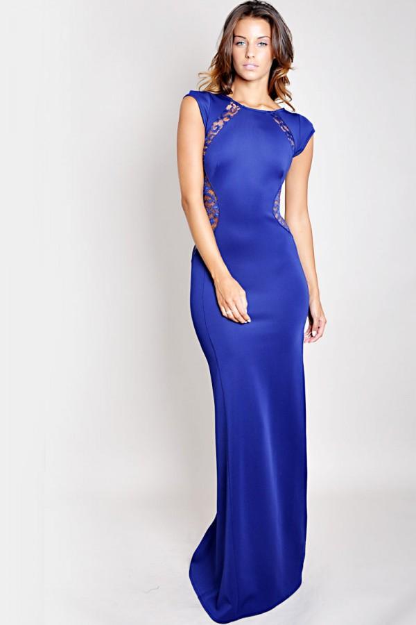 TFNC Soledo Maxi Lace Back Dress
