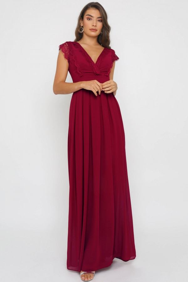 TFNC Whimsy Mulberry Maxi Dress