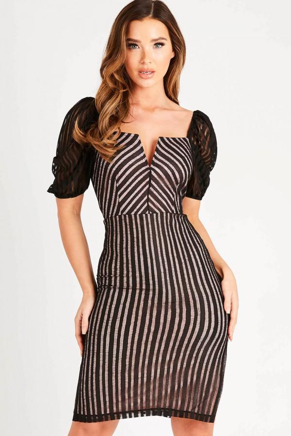 TFNC Anisia Black Mini Dress