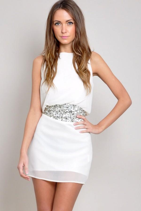 TFNC Kamya Embellished Waist Dress