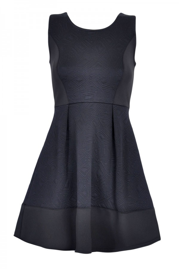 TFNC Lila Textured Fit and Flare Dress