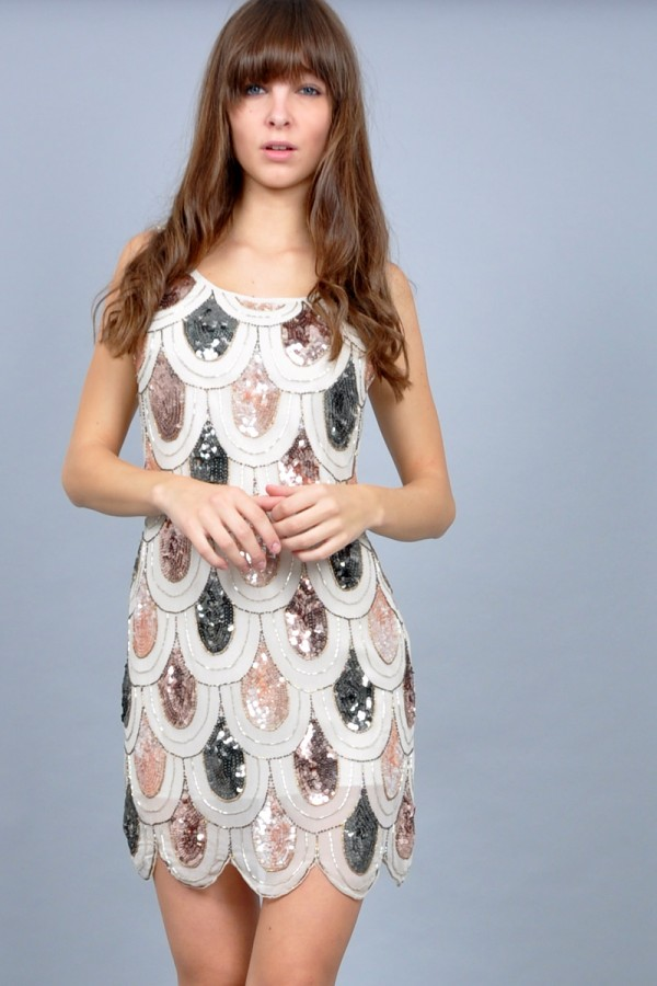TFNC Angela Sequin Dress