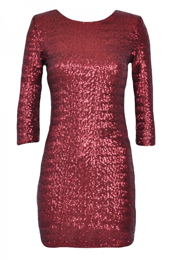 TFNC Paris Red Sequin Dress