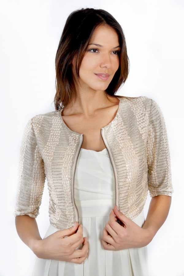 TFNC Sequin Cropped Jacket
