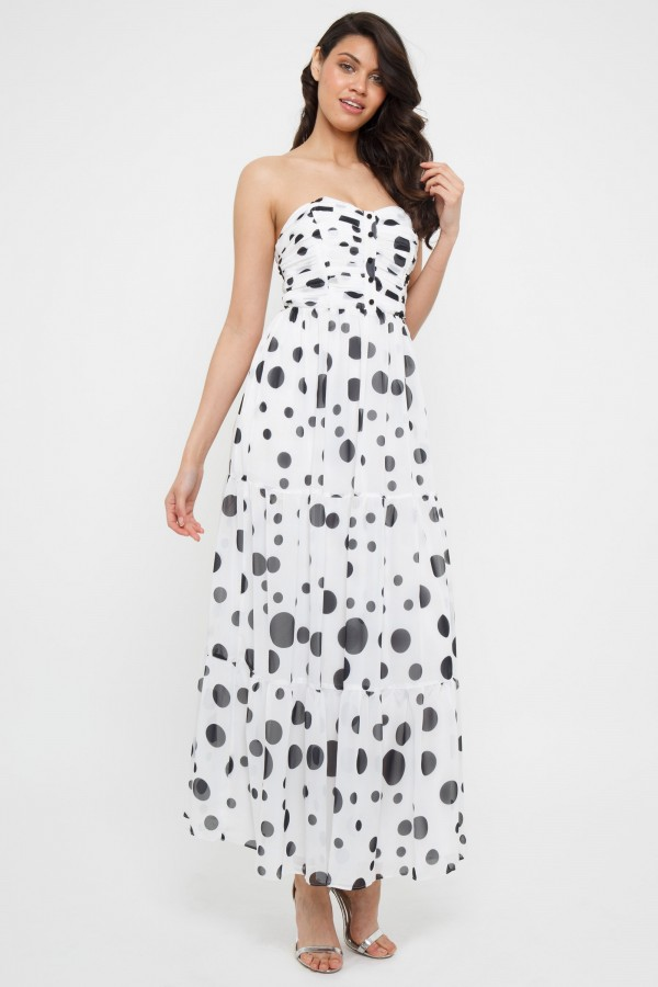 TFNC Saffira Black/White Maxi Dress