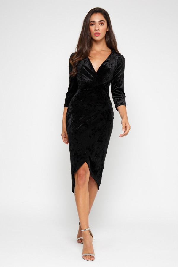 TFNC Tallia Black Velvet Dress