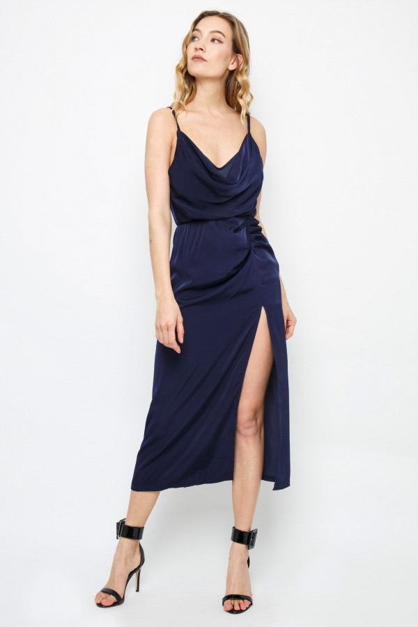 TFNC Vanina Navy Midi Dress