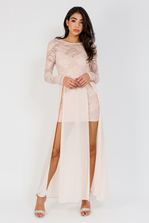 TFNC Olwenn Nude Maxi Dress