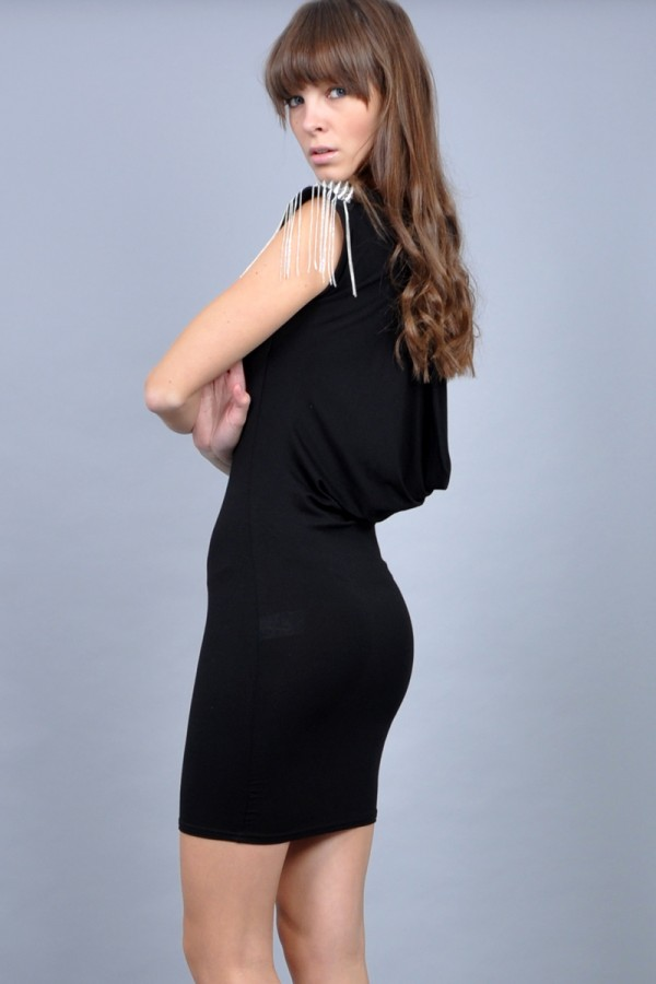 TFNC Spike Open Back Dress
