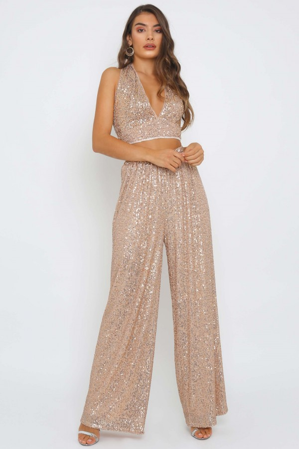 TFNC Sade Rose Gold Pants