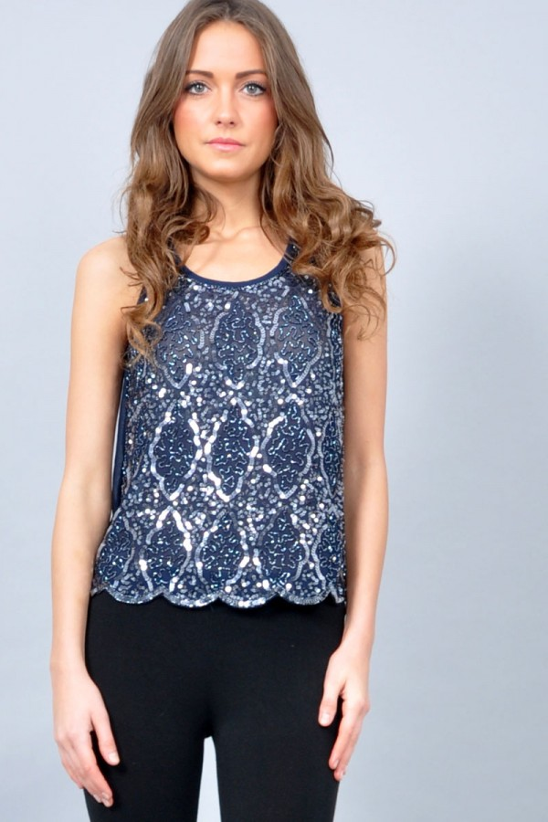 TFNC Abria Embellished Top