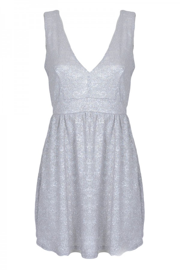 TFNC Dontell Textured Fit and Flare Dress