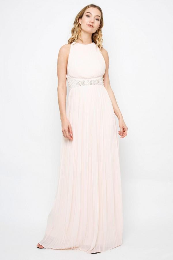 TFNC Adora Nude Maxi Dress