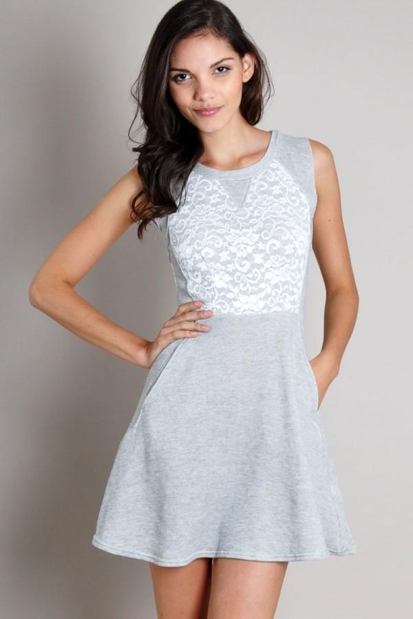 TFNC Mouna Skater Dress with Pockets